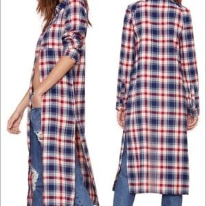 NWT Romeo & Juliet Couture long side slit flannel